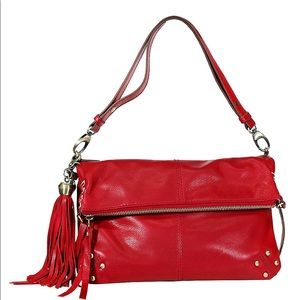 NWOT Lucky Brand Red Leather Satchel